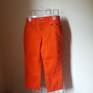 Ann Taylor Loft Orange Cropped Denim Pants